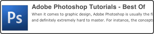Photoshop Tutorials : Best Of