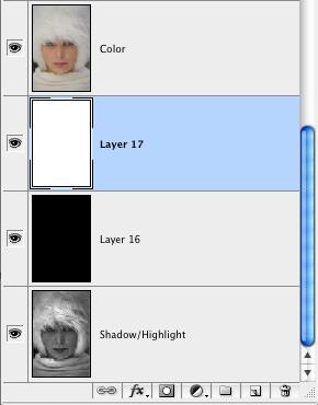 Weiße und schwarze Ebenen