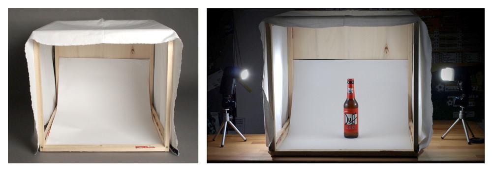 Hör mal wer da hämmert! Eine Lichtbox selbst gebaut.