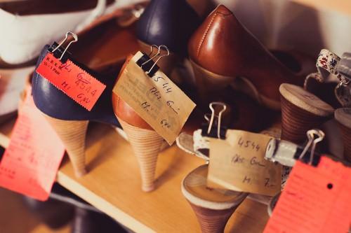 Schumacherei: Fertige Schuhe