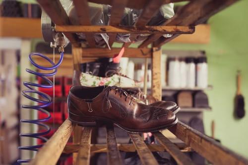 Schuhmacherei: Ein Schuh