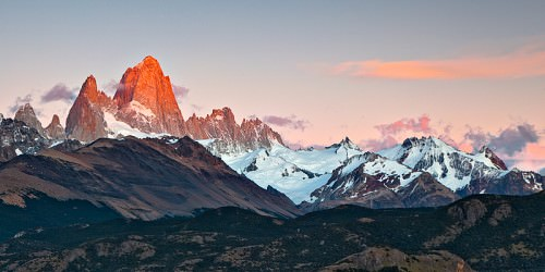 Glowing Fitz Roy - Copyright Jörg Bonner