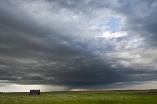 Keine Gewitter in Wyoming - ein Foto mit Wolken, insgesamt aber ruhig
