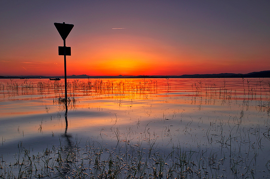 Sommerabend auf der Insel Reichenau