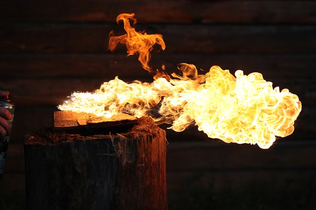 Ein Feuerstrahl