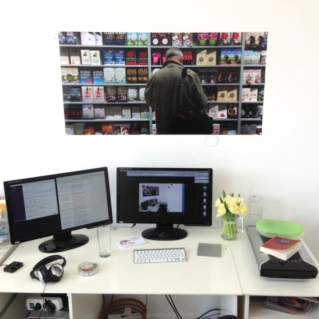 Foto über Martins Schreibtisch