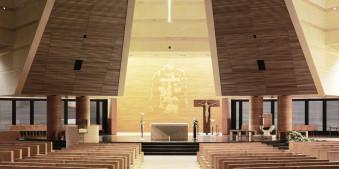 kirche, architektur, santo volto torino, turin, italien, church, architektur, modern, new, nachkriegsarchitektur, Fabrice Fouillet