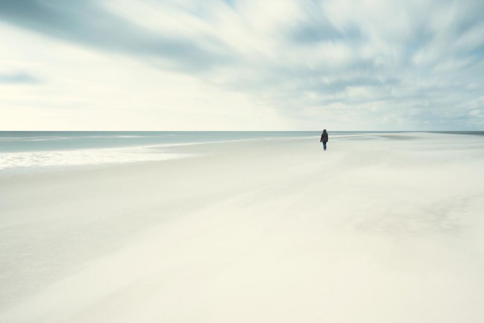 Meer, Langzeitbelichtung, Wolken, Freiheit, Fotografie, Mensch, Zeit, Du, Alleine