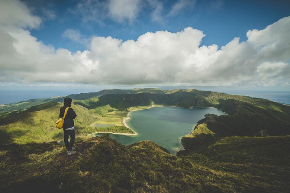 Aussicht, Wolken. Berge, See, Landschaft, Mensch, Natur, Wandern, Freiheit, Blick, Weitblick