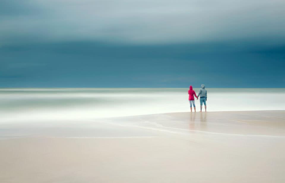 Liebe, Strand, Langzeitbelichtung