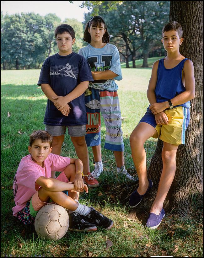 4 kids Kearny 1984 © Mike Peters