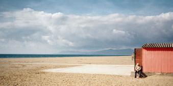 street, strand, wolken, alleine, Benedetta Falugi, italien,