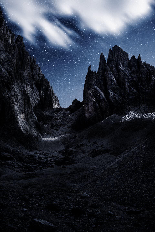 Sterne, Himmel, Gebirge
