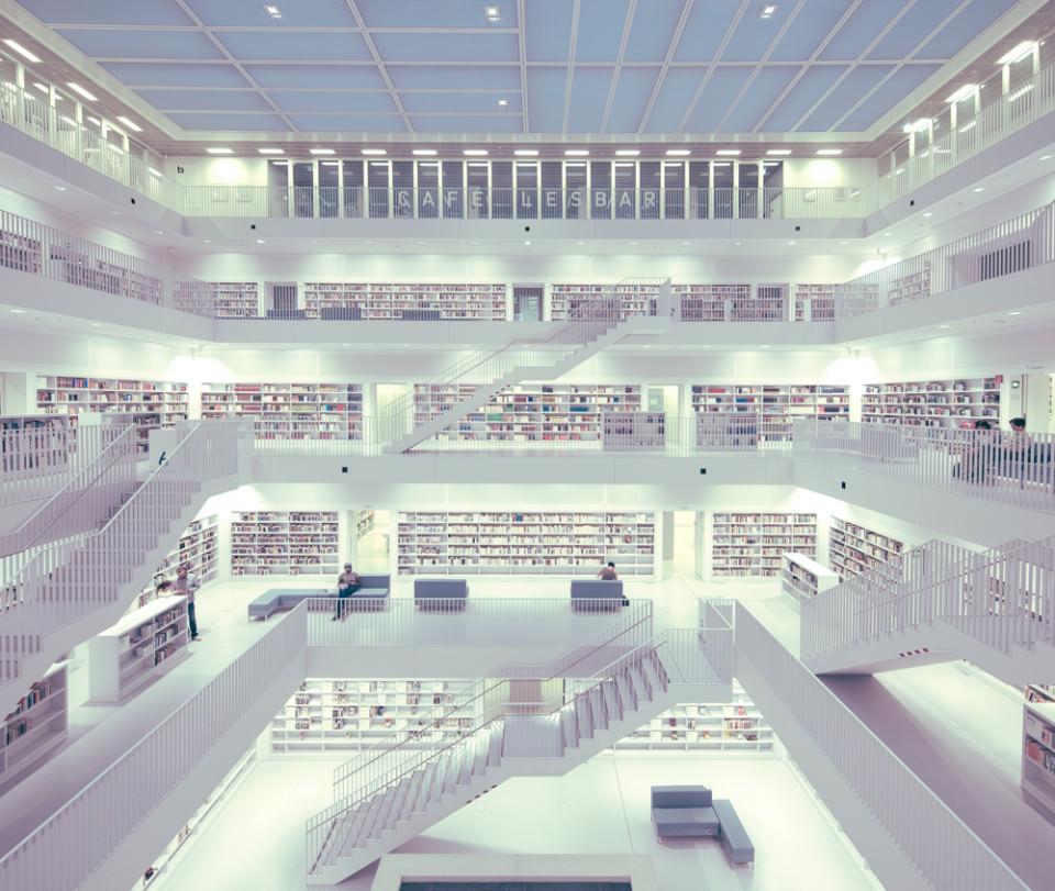 Staatsbilbliothek, Stuttgart, Architektur