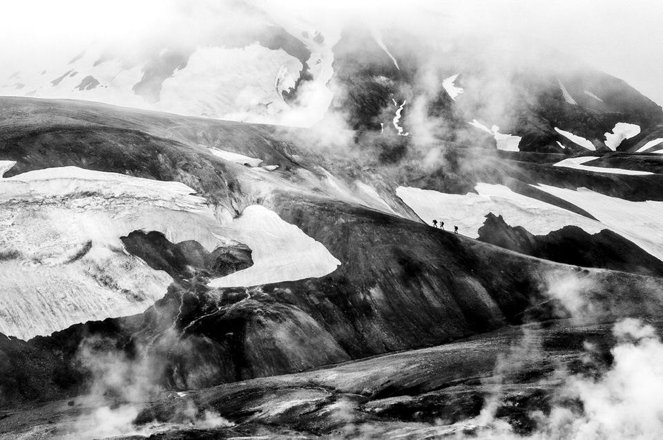 Island, Wandern, Gebirge, Eis, Schnee