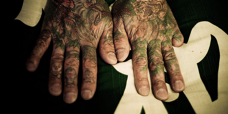 tatoo, hand, finger, abgeschnitten,