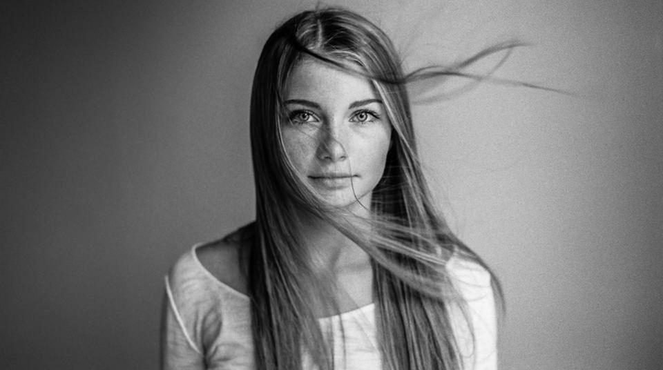 Frau, Portrait, Haare, Studio