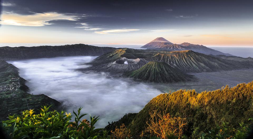 indonesia, mount bromo, indonesien, moint bromo, landschaft, weitblick