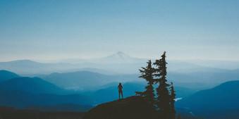 berge, ausblick, urlaub