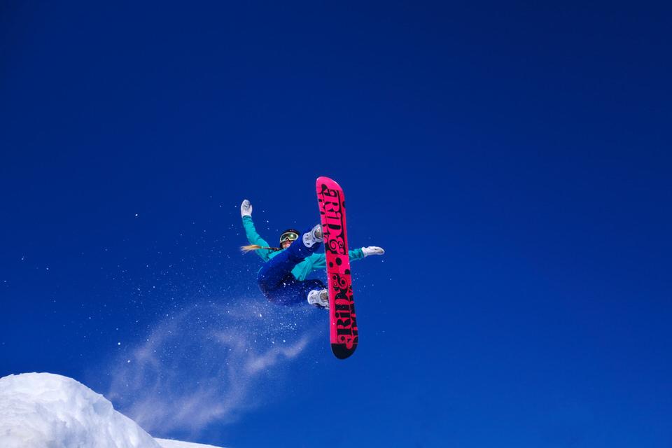 Snowboard, Abflug, Winter, Schnee, Sport