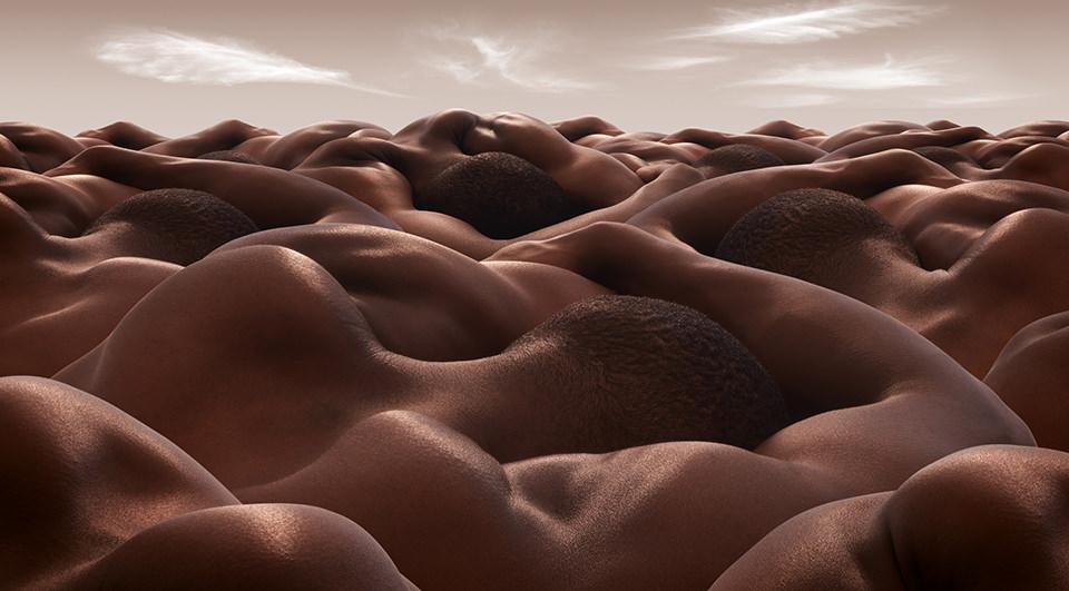 Desert of Sleeping Men © Carl Warner