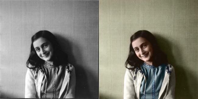 Anne Frank, Kolorierung: Katja Kemnitz