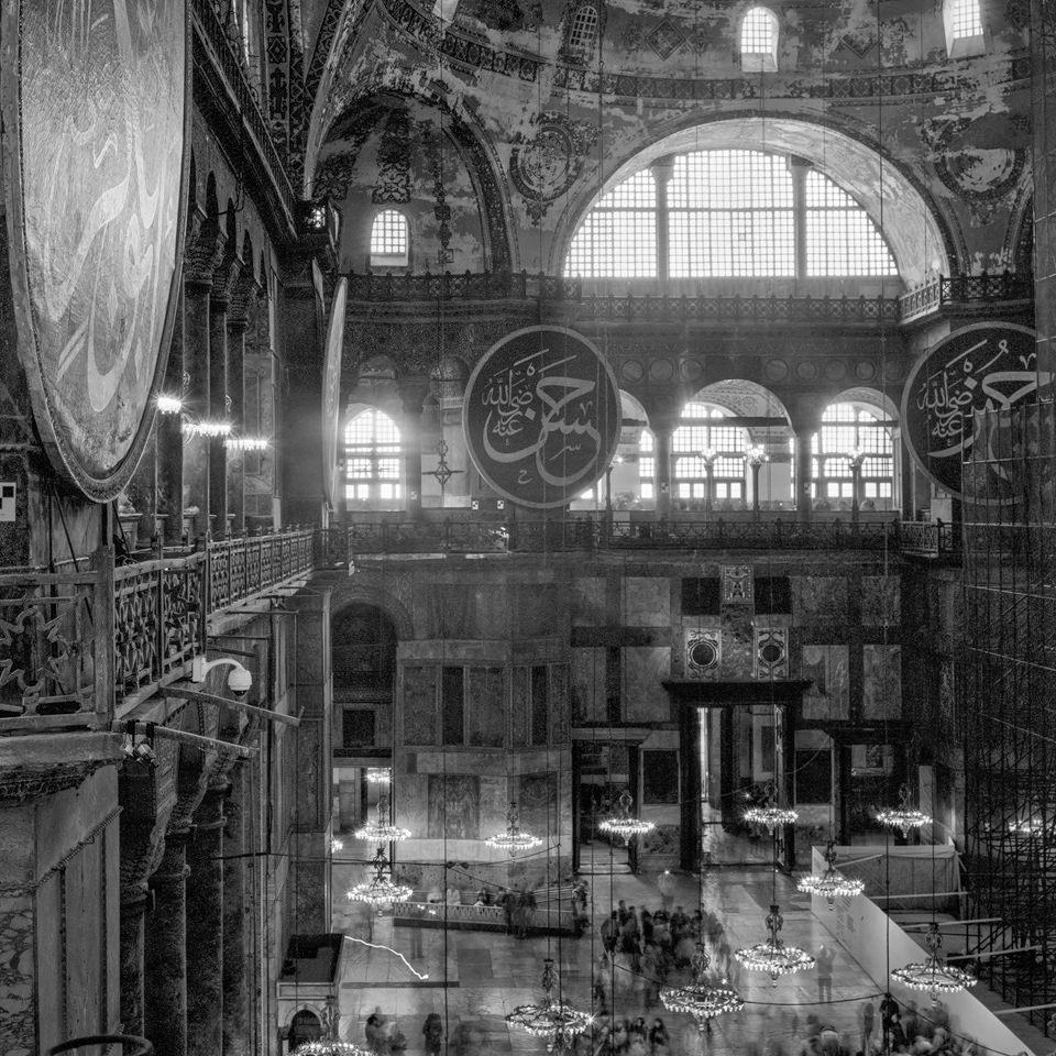 Langzeitbelichtung von der  Hagia Sophia in Istanbul.