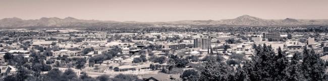 Blick über eine Stadt.