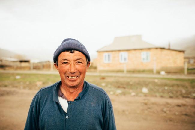 Portrait eines kigisischen Landbewohners.