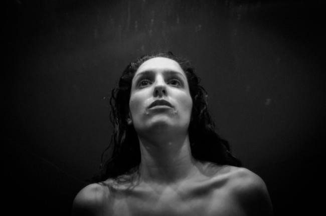 Ein Selbstportrait in Schwarzweiß
