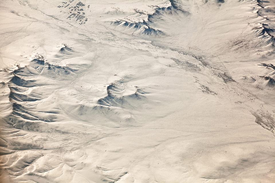 Wüste Gobi von oben