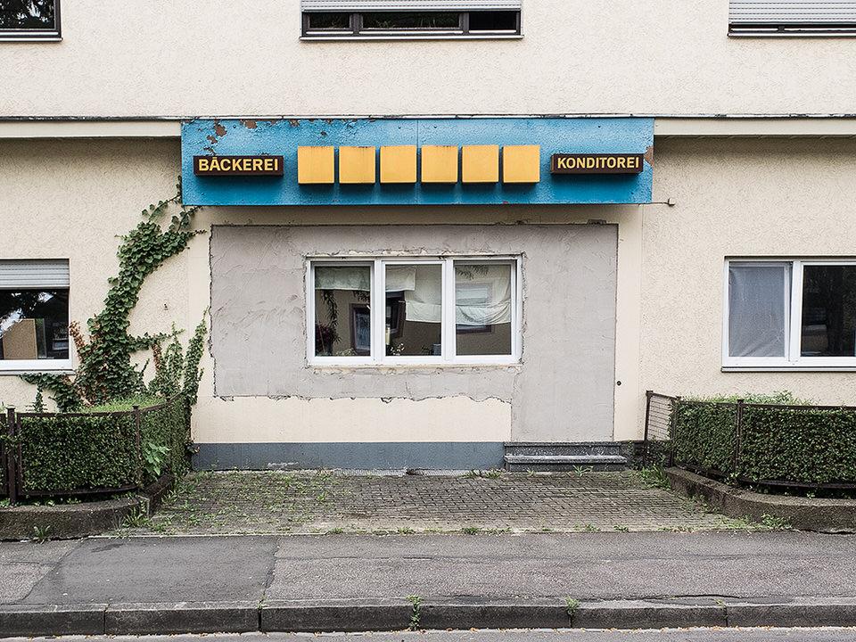 Blick auf eine ehemalige Bäckerei.