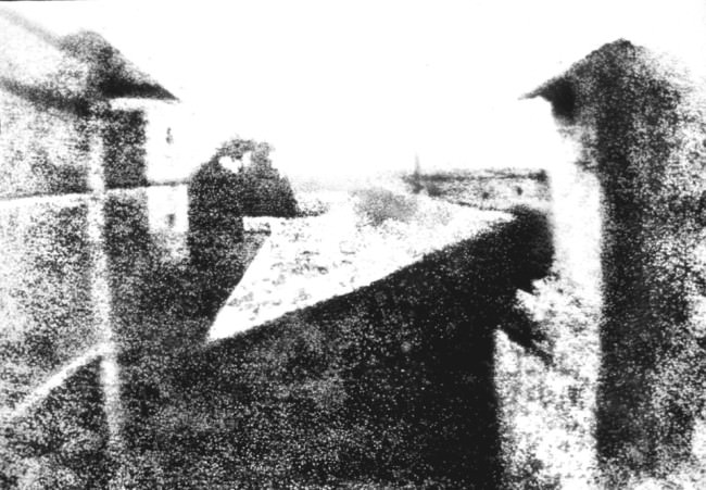 Kopie des Originals (Blick aus dem Arbeitszimmer von Le Gras, Joseph Nicéphore Niépce, 1826)