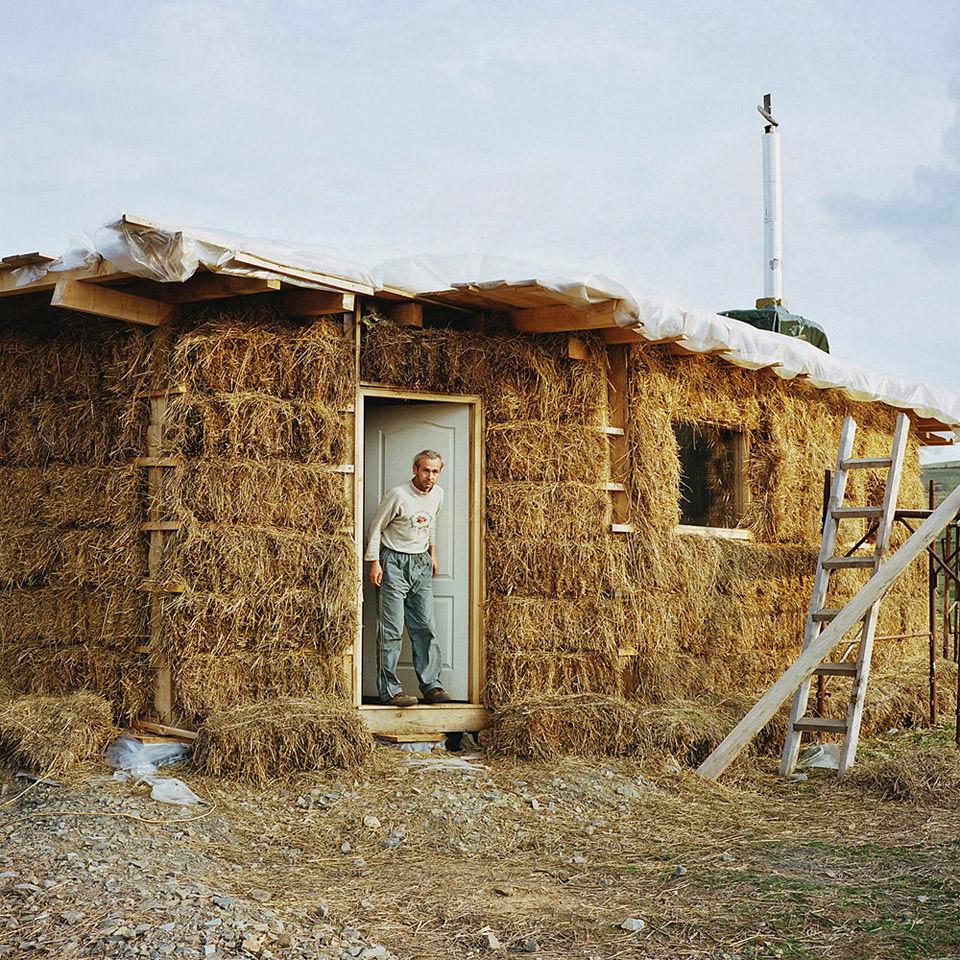 Haus aus Strohballen