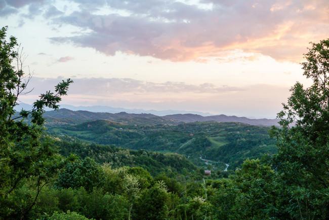 Der Blick ins Tal.