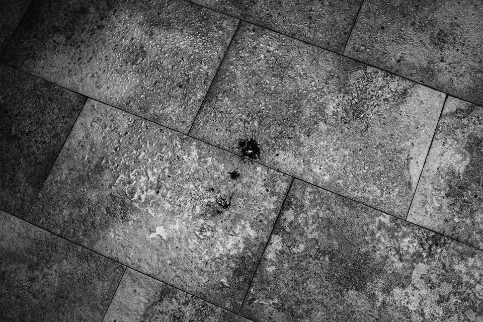 Ein Fleck auf der Straße