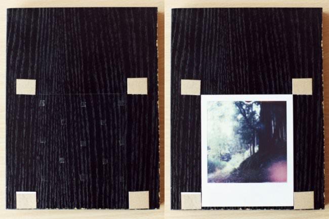 Scan-Adapter mit und ohne Polaroid.