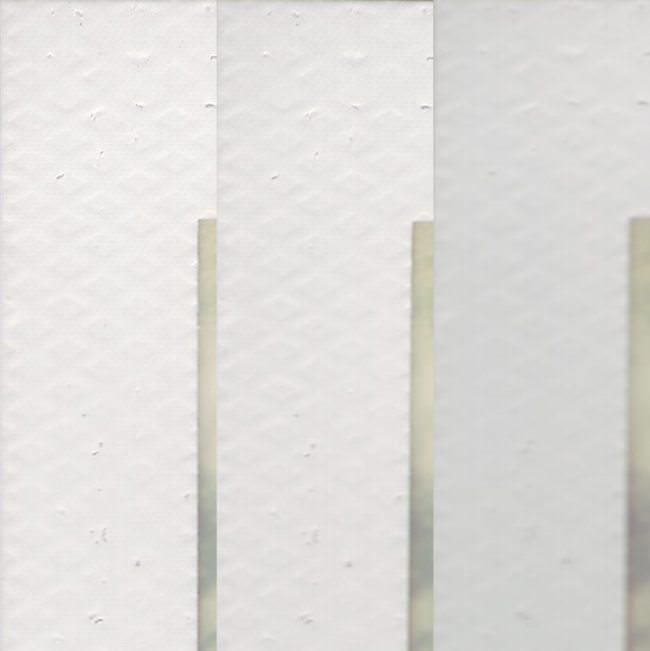 Detail des weißen Rands eines Polaroids in unterschiedlicher Schärfe.