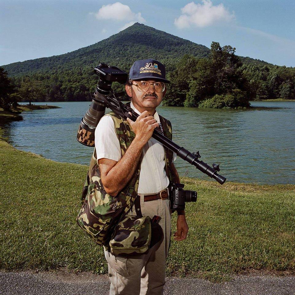 Ein Fotograf mit vollem Rüstzeug.