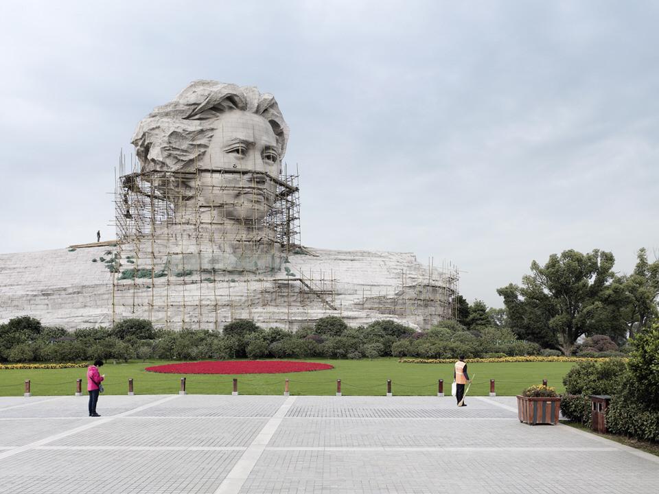 Monumentalstatue von Mao Zedong