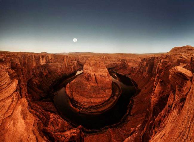 Ein Canyon aus rotem Stein