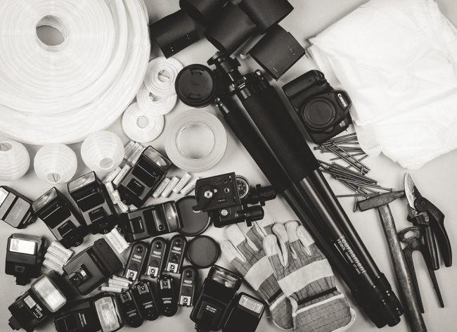 Das nötige Equipment für die Fotoserie.