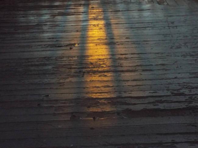 Sonnenlicht auf einer Veranda