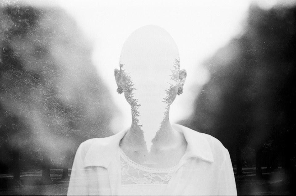Doppelbelichtung, Person ohne Gesicht