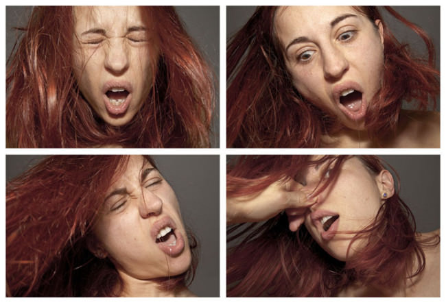 Vier Gesichter der Paula Muhr.