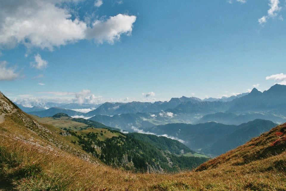 Blick auf die Berglandschaft.