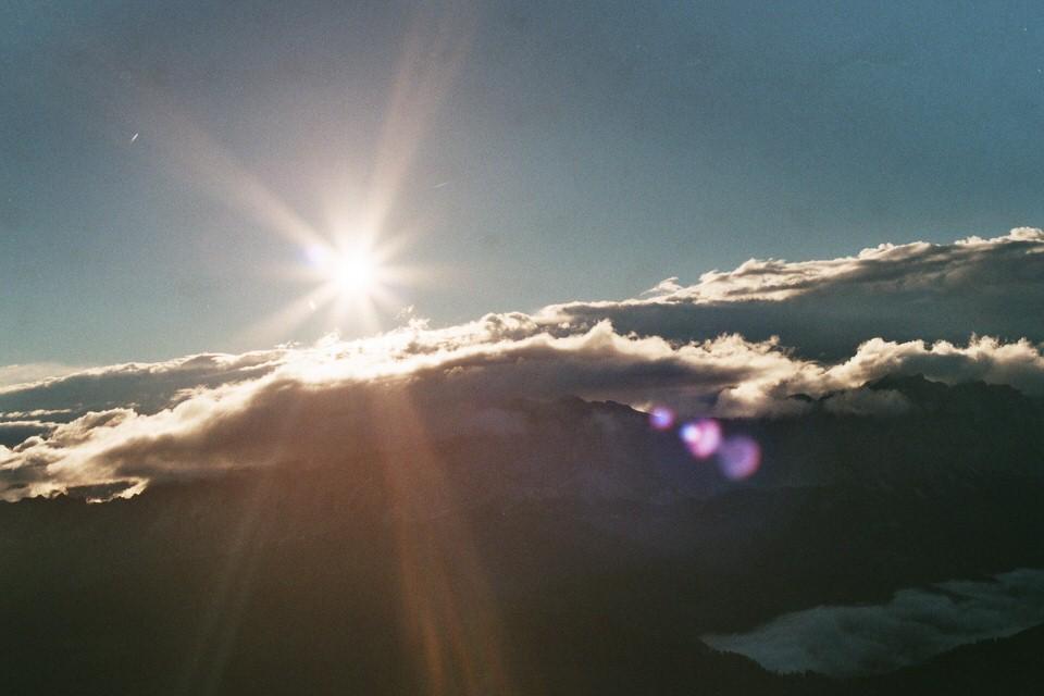 Sonne über den Wolken.