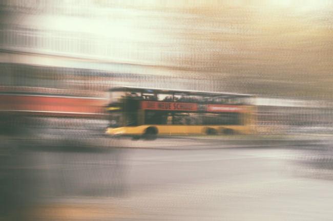 Foto eines sich bewegenden Objekts, nachbearbeitet in Photoshop.