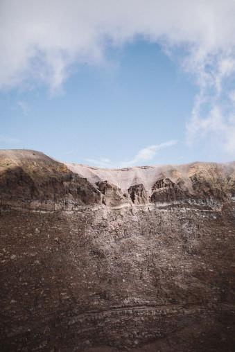 Landschaft, eine steinige Wand.