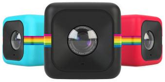 Polaroidcubes in drei Farben